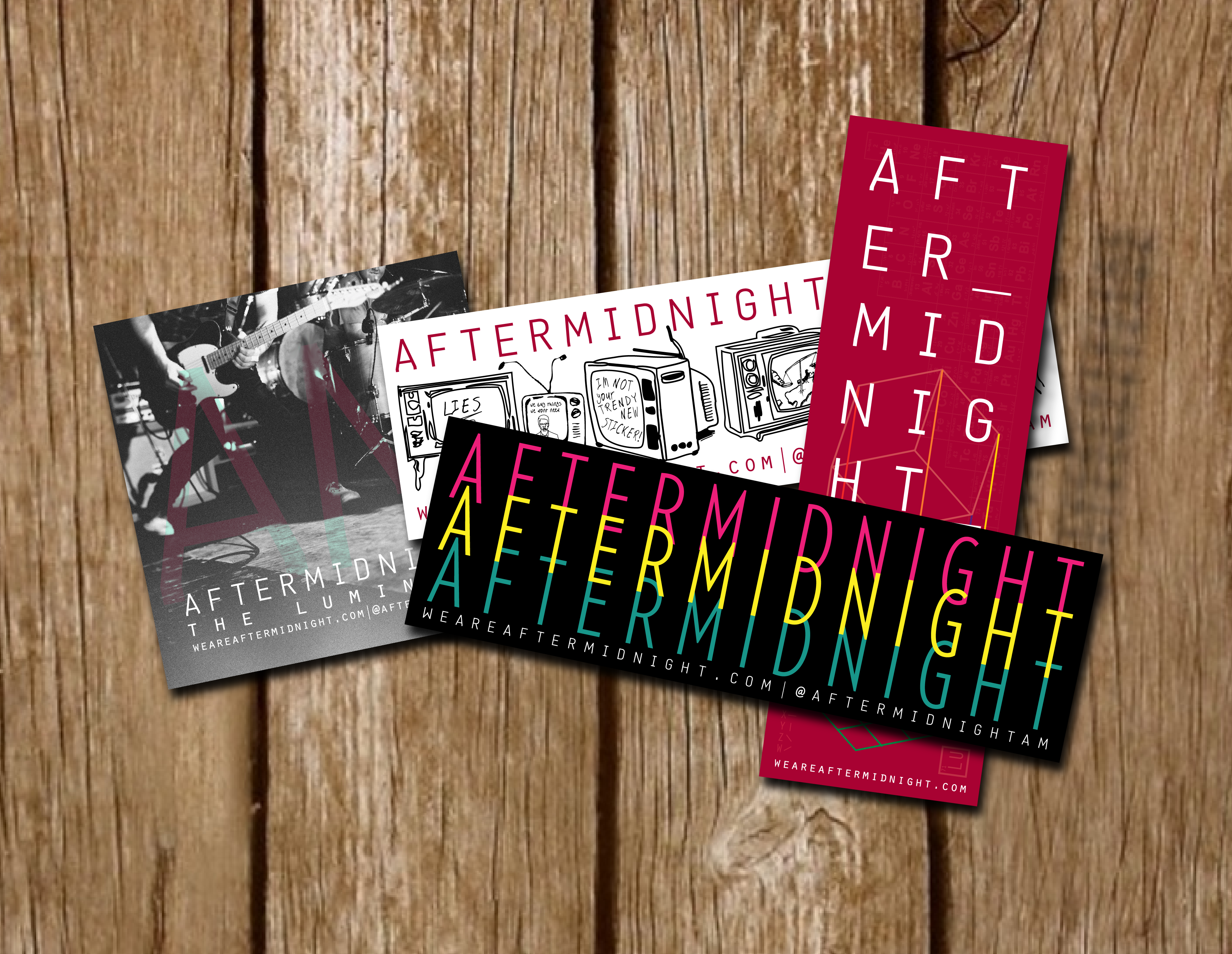 Band Stickers | Aftermidnight