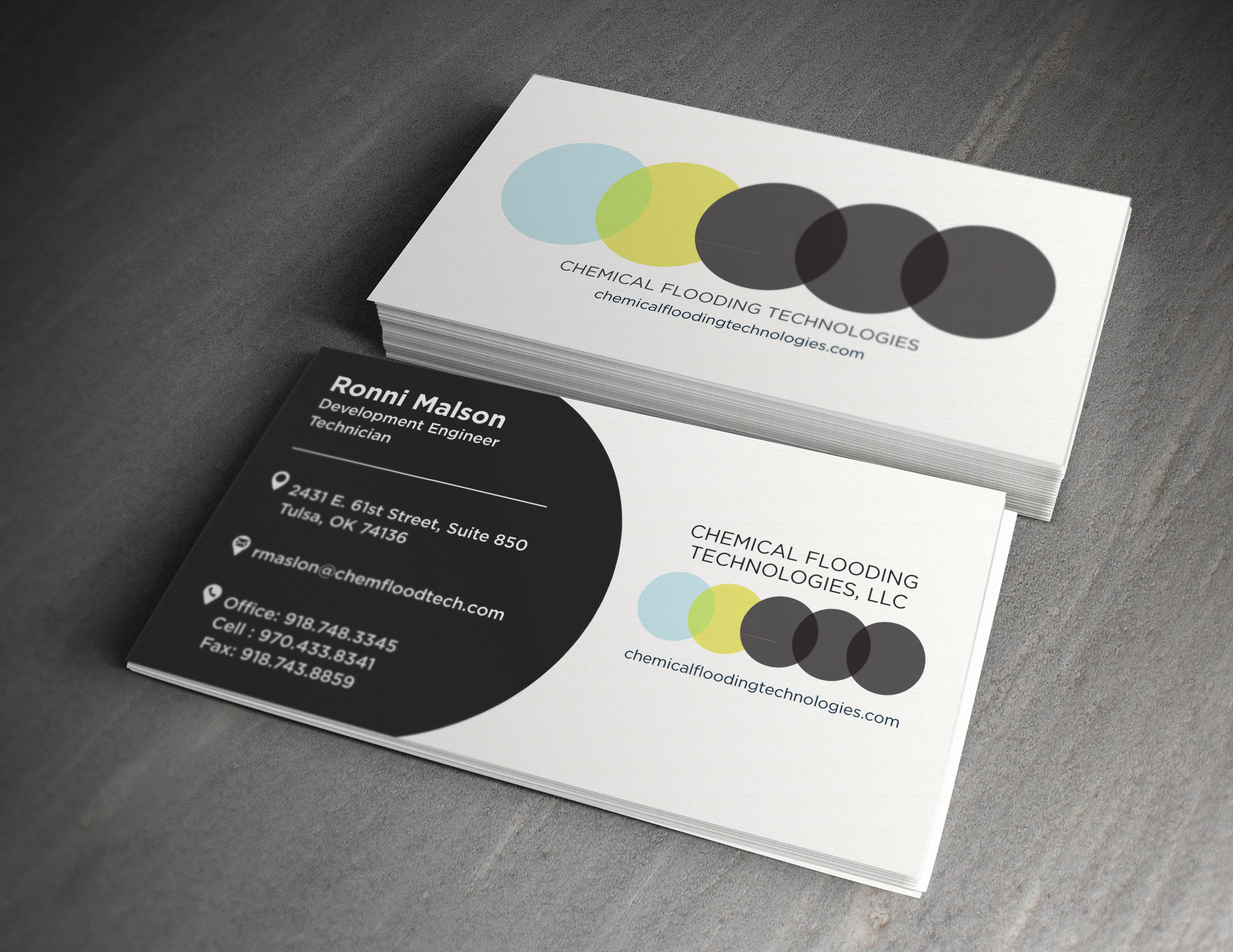 Corporate Business Cards –  Chemical Flooding Technologies