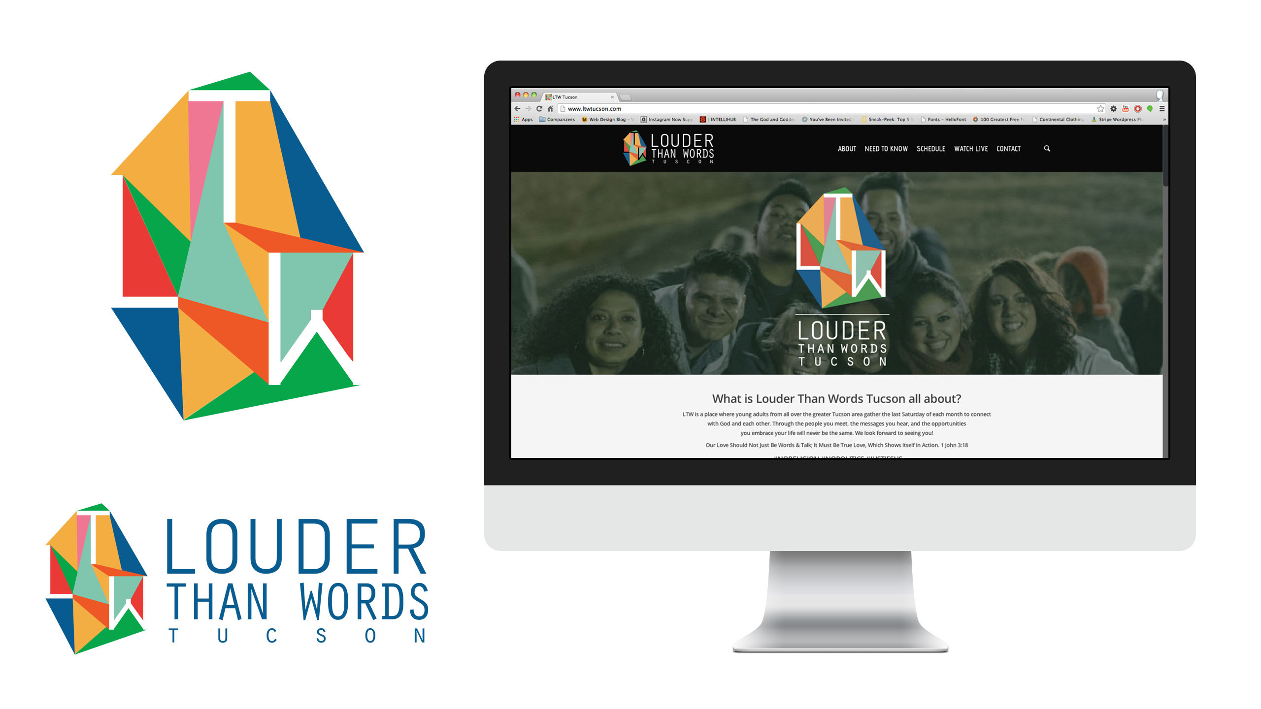 Creative Website & Logo Design – Louder Than Words Tucson