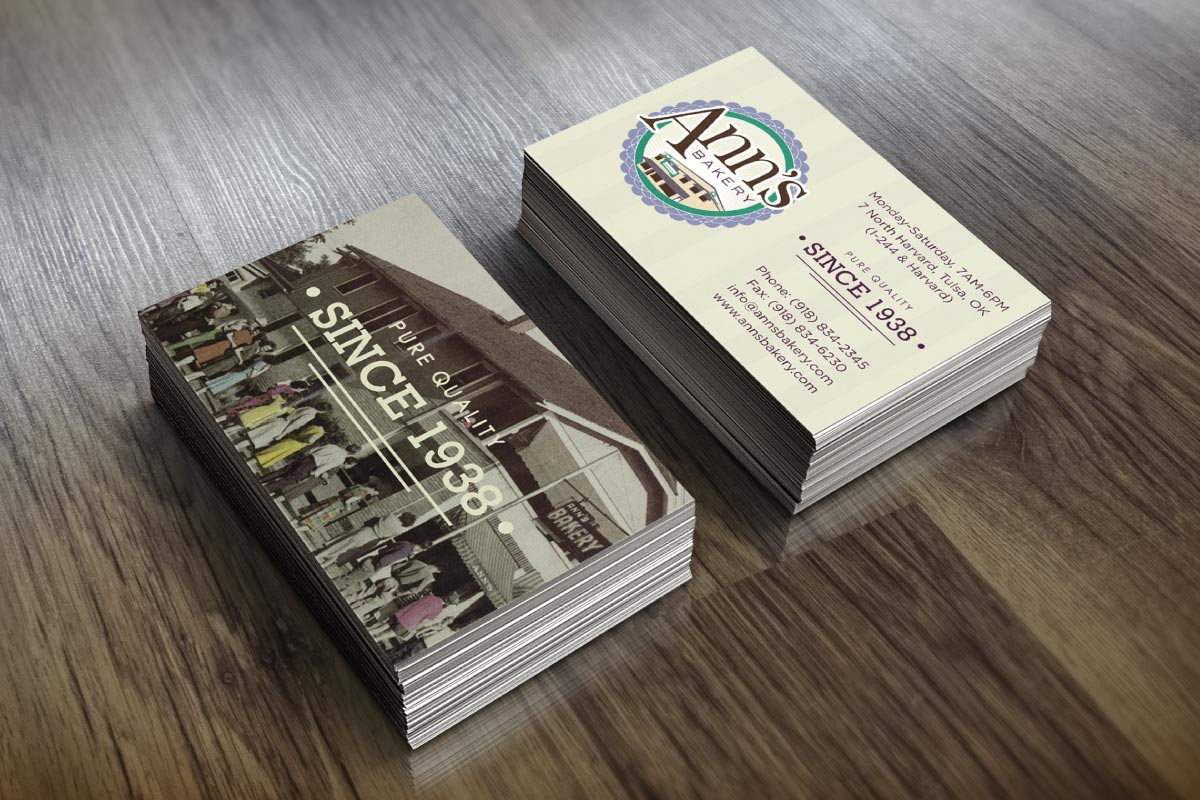 Ann's Bakery Business Cards