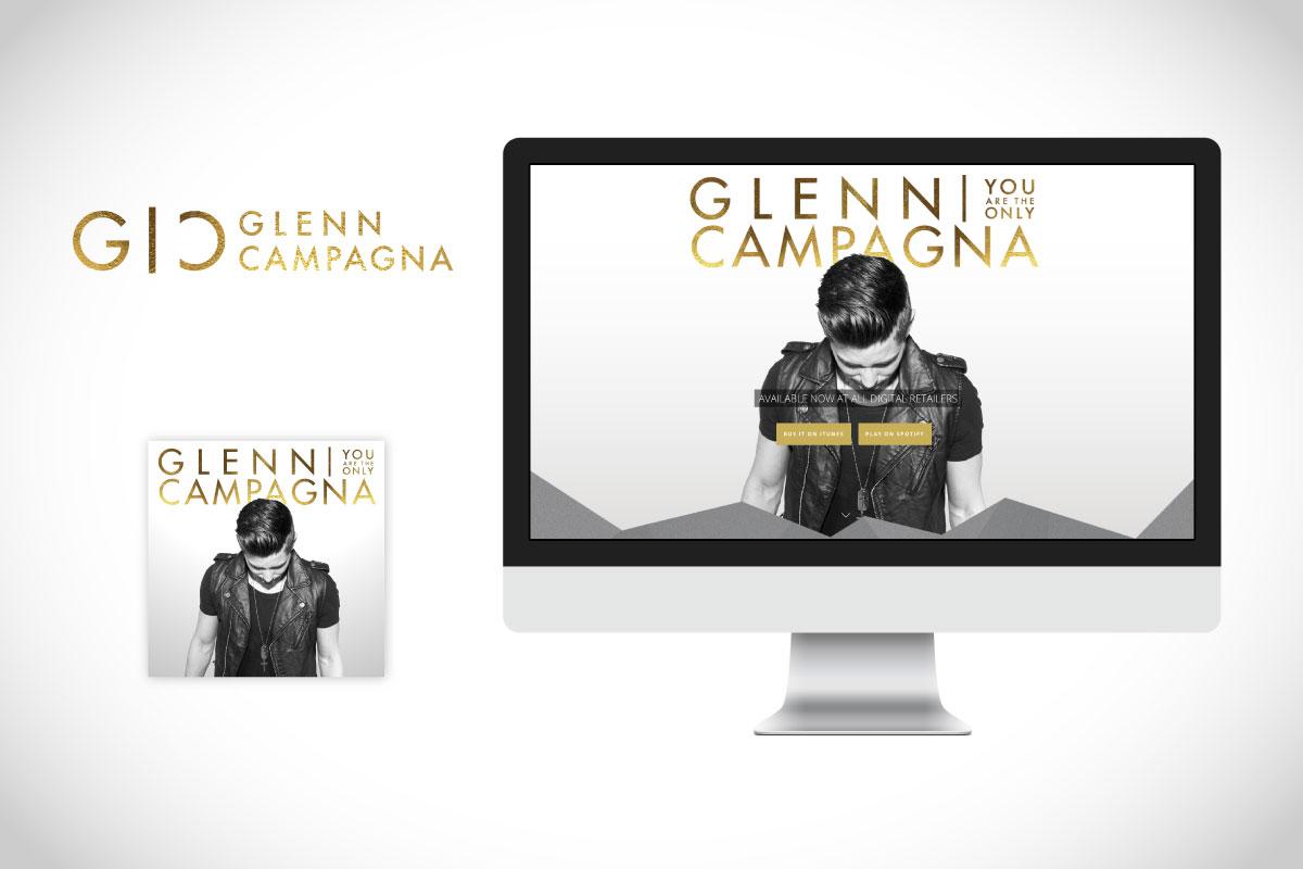 Glenn Campagna Logo, Website, Album Art, Banner